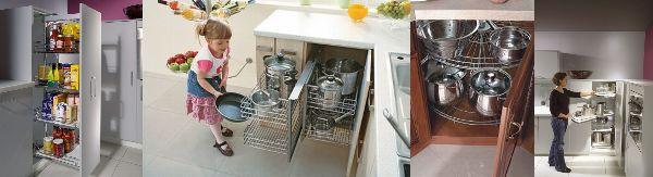 Wyposażenie kuchennych szafek